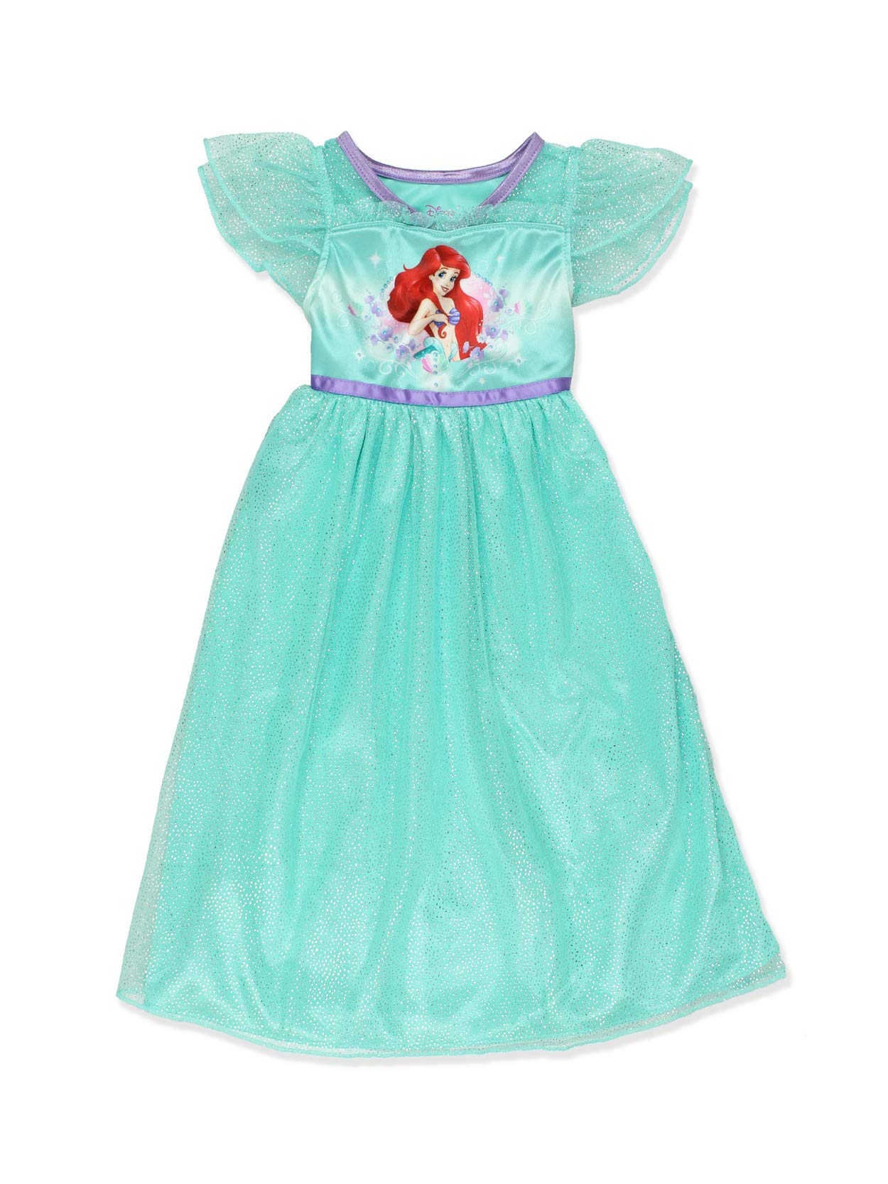 76342808aa The Little Mermaid Ariel Girls Fantasy Gown Nightgown Pajamas  (Toddler Little Kid Big