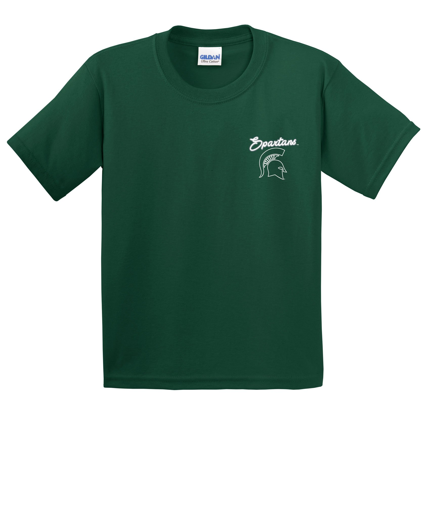 NCAA Michigan State Spartans Girls Cheer Loud Short Sleeve Cotton T-Shirt, Youth X-Large,ForestGreen