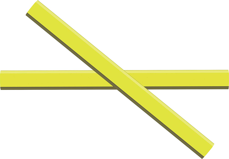 GRAPHITE Carpenter Pencils #2 Pencil Lead   Rectangular Pencil   (72) Pcs   Wide Graphite Pencil for Wood Flooring Marker & Concrete Marking   For Measuring Tool Set   Neon Yellow