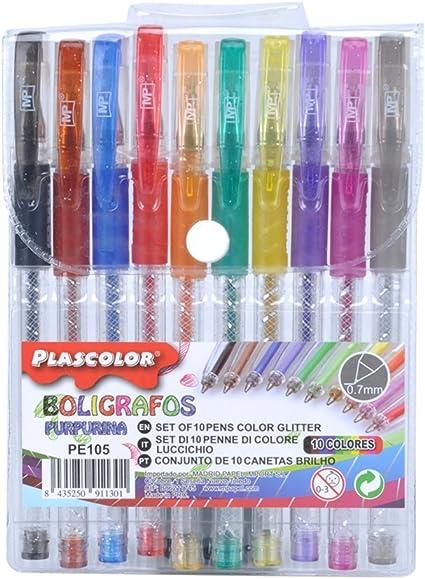 Plascolor PE105 - Pack de 10 Pack de 10 boligrafos: Amazon.es ...