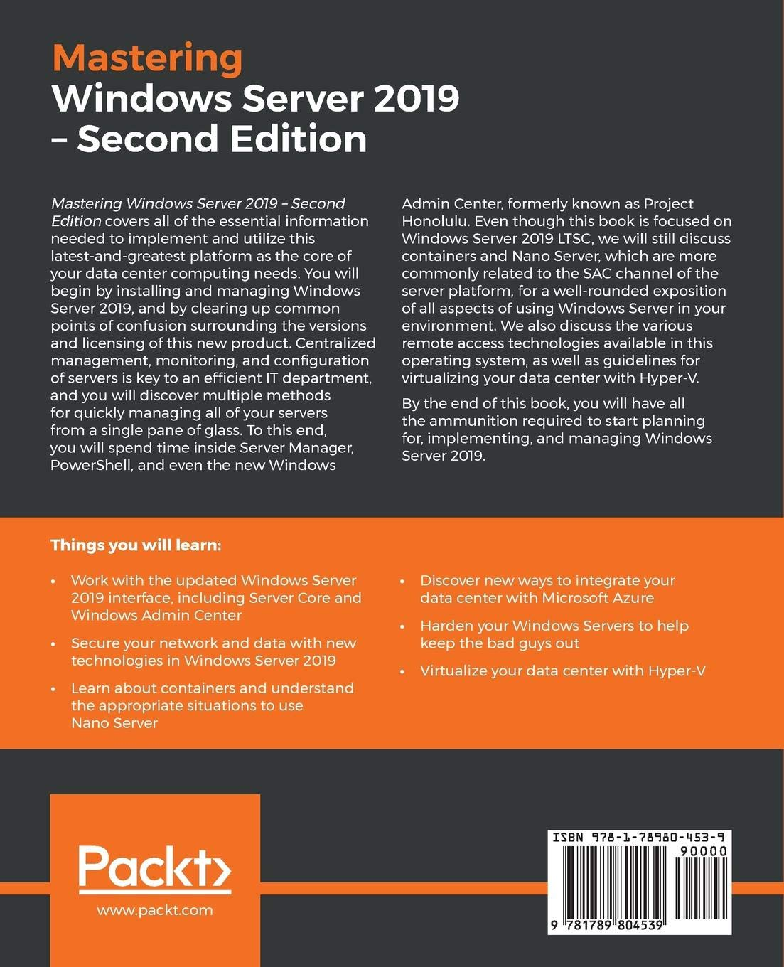 Mastering Windows Server 2019: The complete guide for IT