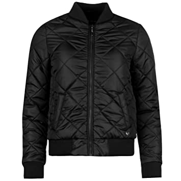 585e895ab0c Lee Cooper Quilted Bomber Jacket Womens Black Coat Outerwear Jackets    Coats UK 10 (Small