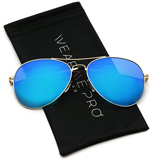 8f78ed153 Image Unavailable. Image not available for. Color: WearMe Pro - Classic  Mirror Lenses Aviator Sunglasses w/Flex Hinges
