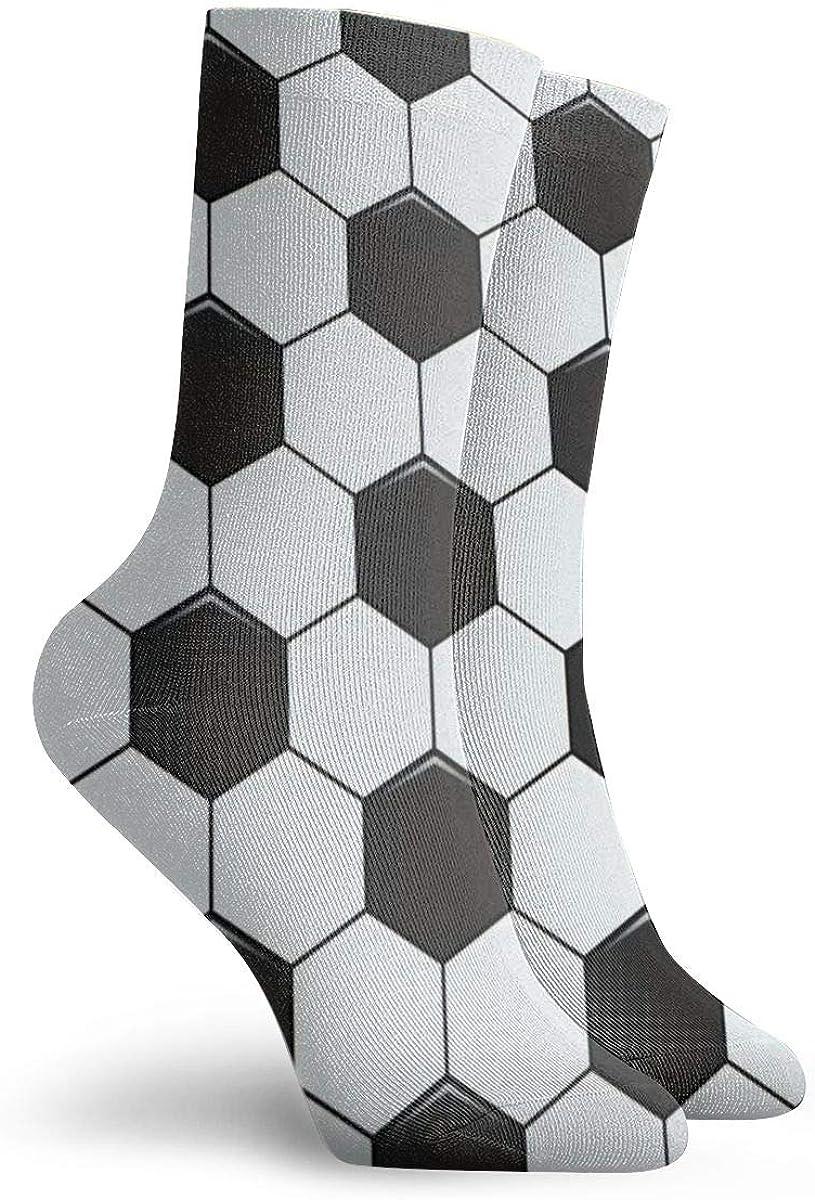 Cotton Crew Socks For Men Women Casual Socks With Soccer Football Feet Ball Print