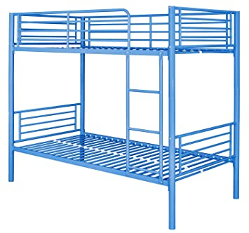Montreal Blue Metal Bunk Bed Single Amazoncouk Kitchen Home
