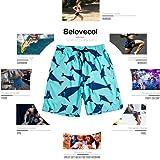 Belovecol Men's Swimming Trunks 3D Print Colorful