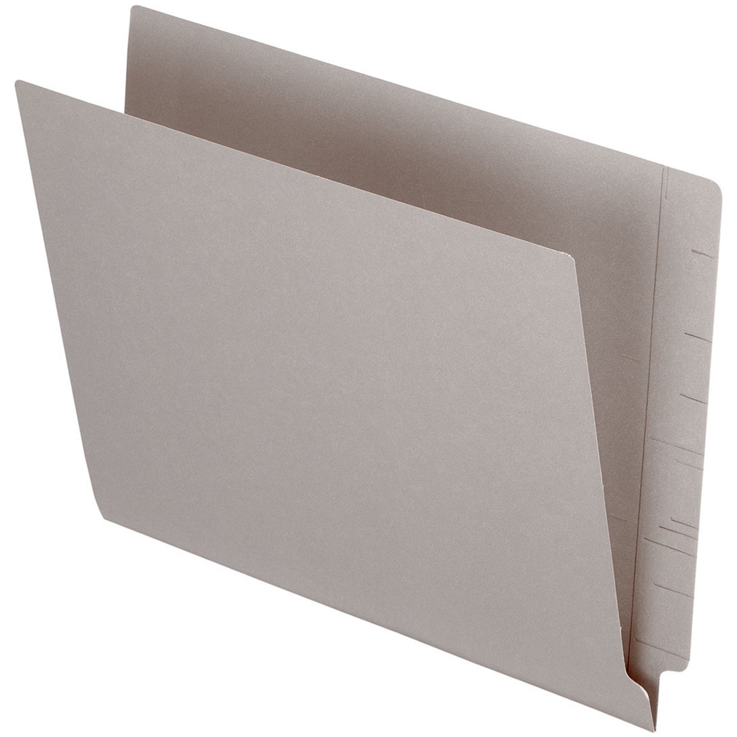 Pendaflex PFXH110DGY Color End Tab Folder-Letter-8 1/2x11 Sheet Size-3/4 Expansion-11 pt. Folder Thickness-Gray-Recycled-100/Box S.P. Richards CA