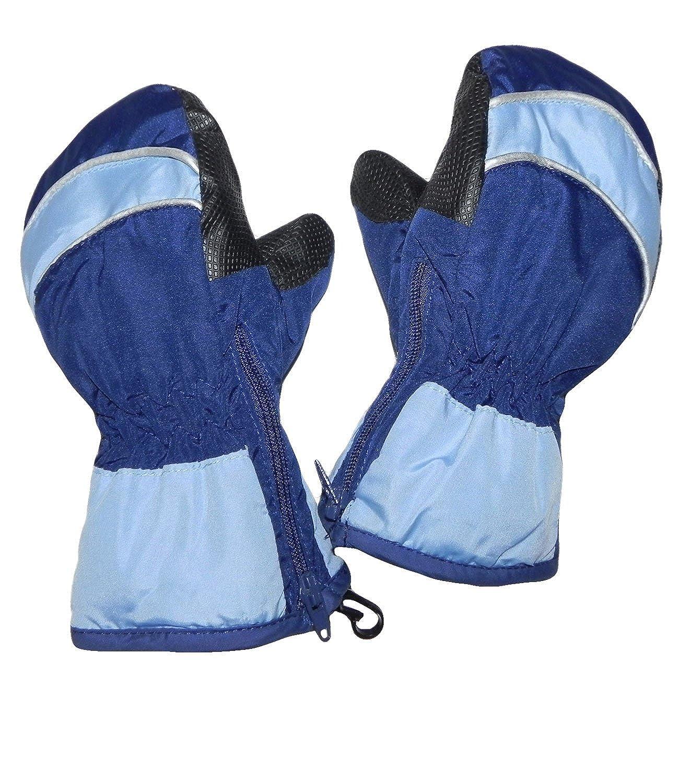 EveryHead Jungenhandschuhe Thermohandschuhe Handschuhe Fausthandschuhe Fäustlinge Fäustel zweifarbig Thinsulate Reißverschluss Kinder (PT-5208-W16-JU0) inkl Hutfibel