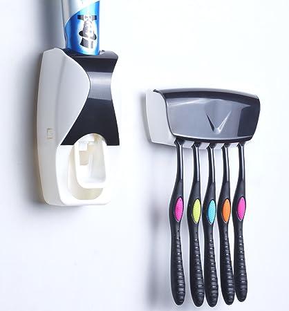 melonboat dispensador de pasta de dientes automático con cepillo de dientes titular Set, niños manos