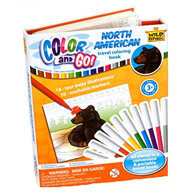 Wild Republic Wilderness, Color & Go, Coloring Books for Toddlers, Stem Activities, 18 Pages: Toys & Games