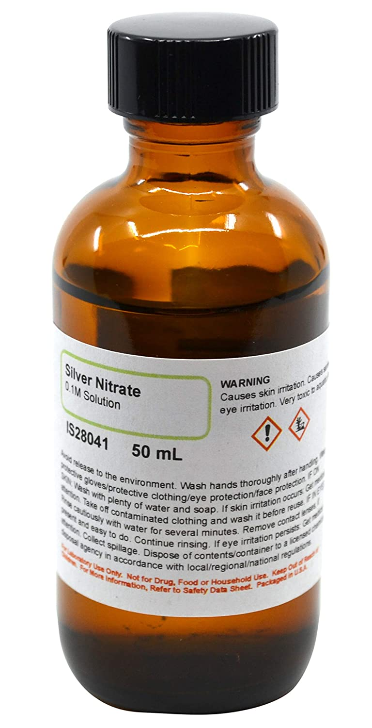 Silver Nitrate Solution, 0.1M, 50mL - The Curated Chemical Collection