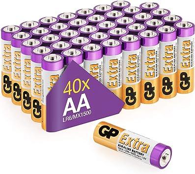 GP - Pack de 40 Pilas AA Alcalinas | Capacidad y duración ...