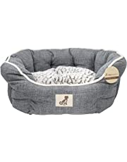 AllPetSolutions Alfie Range Beds Fleece Lined Warm Dog Bed, Medium, Grey
