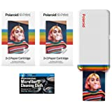 Polaroid Hi-Print - Bluetooth Connected 2x3 Pocket Phone Photo Printer with 2 Polaroid Hi·Print 2x3 Paper Cartridges (40 Shee