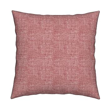 Amazon.com: Nouveau - Almohada de color rosa con textura ...