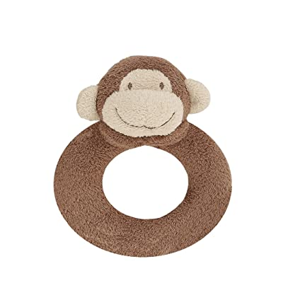 Angel Dear Dark Monkey Ring Rattle: Plush Animal Toys : Baby