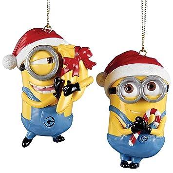 (Set of 2) Despicable Me Dave And Carl Christmas Ornament - Gru's Minions - Amazon.com: (Set Of 2) Despicable Me Dave And Carl Christmas