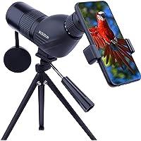 Telescopio Terrestre 12-36x50 HD con Trípode, Bolsa de Transporte y Adaptador de Teléfono Inteligente para Observación…
