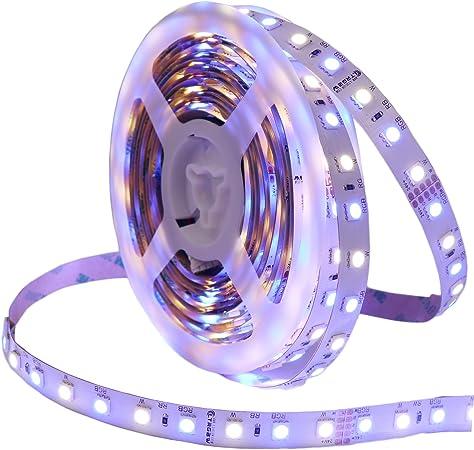 5 m 12 V RGBW Warmweiss bande DEL Stripe RGB WW RVB w smd 5050 ip65 étanche
