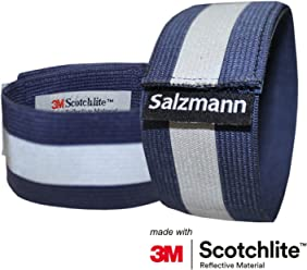 Salzmann 3M 反射アームバンド/レッグバンド 2本セット 3M スコッチライト 反射素材使用