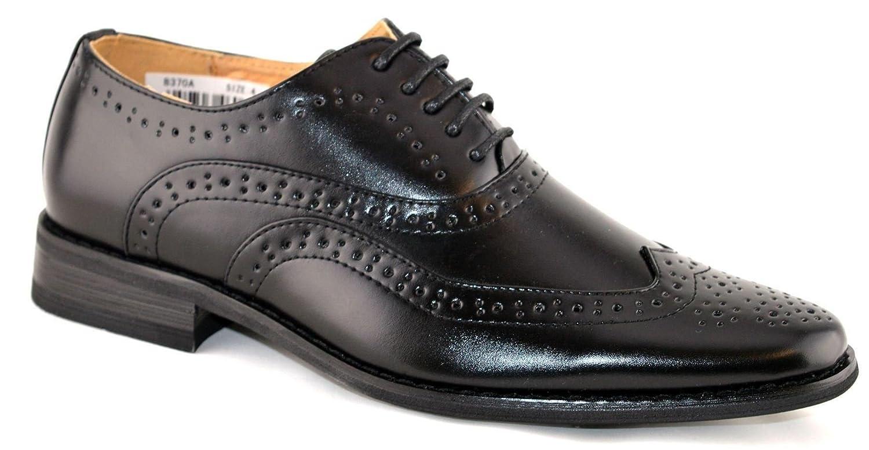 173e43de056 Boys Leather Lined Lace Up Wedding Smart Brogues Black Formal Shoes Size  13-5  Amazon.co.uk  Shoes   Bags