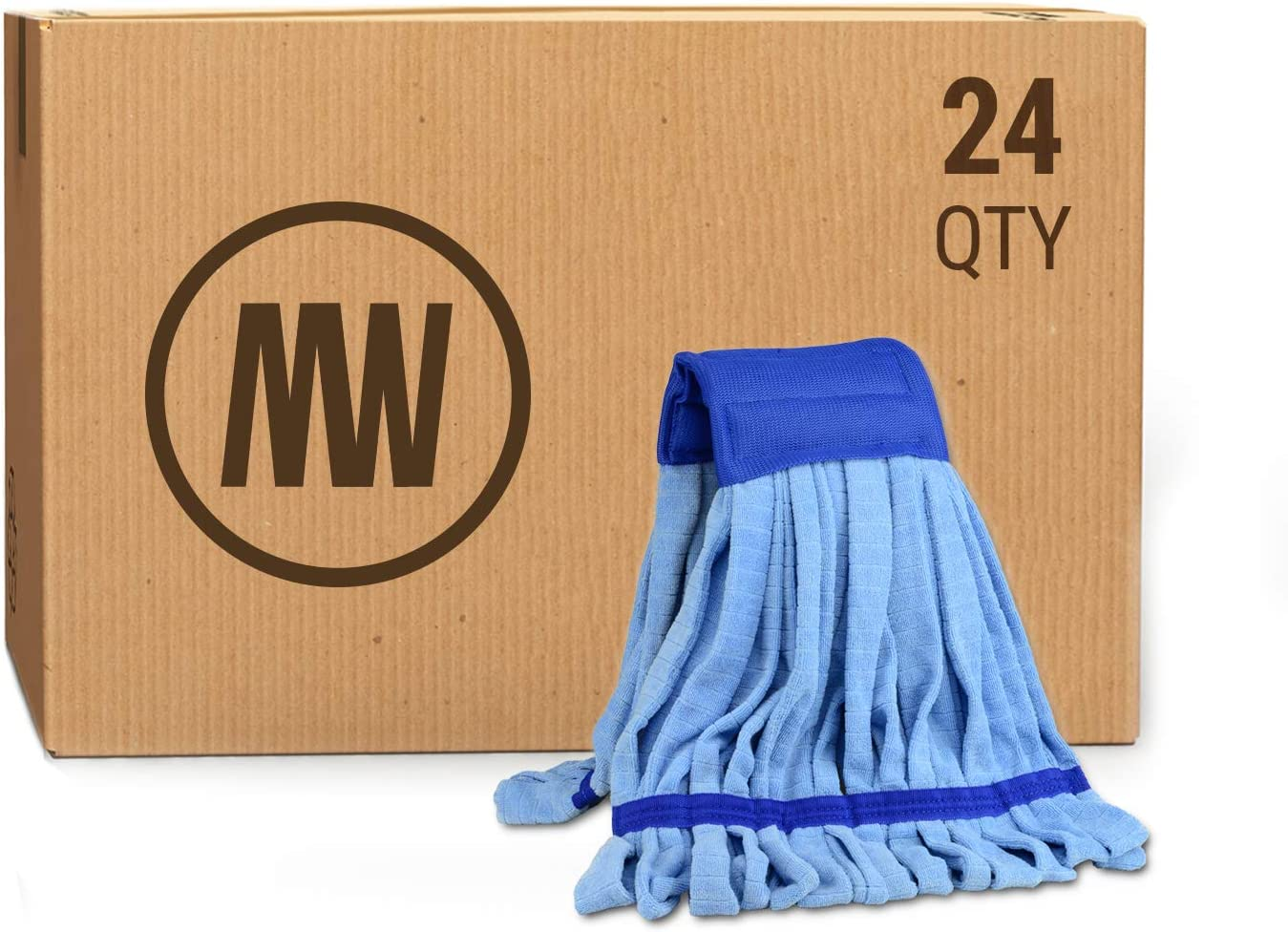 Medium Microfiber Tube Mop Head 14 Oz More Light Weight Than Conventional Cotton String Mops For Commercial And Industrial Use Blue 24 Kitchen Dining