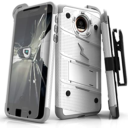 huge discount bee1f 67c40 Amazon.com: Motorola Moto Z Force Case, Zizo [Bolt Series] w/ [Moto ...