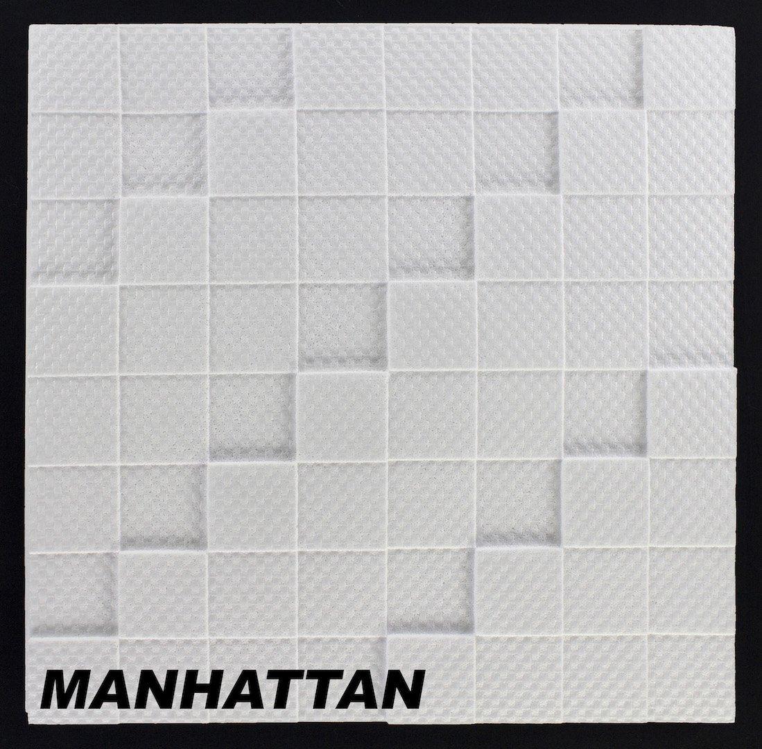 10 M2 Deckenplatten Styroporplatten Stuck Decke Dekor Platten 50x50cm MANHATTAN Amazonde Baumarkt