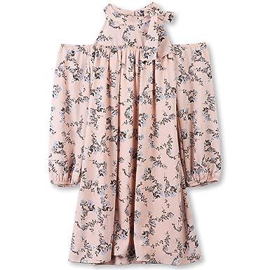 5955ec871384 Amazon.com  Speechless Girls  Big High-Neck Cold-Shoulder Dress  Clothing