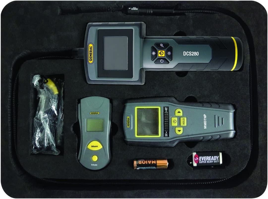 General Tools KT280 Restoration Kit with Video Borescope, IRT and Stud, Metal and Voltage Detector