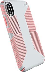Speck Products Presidio Grip iPhone Xs/iPhone X Case, Grey/Pink