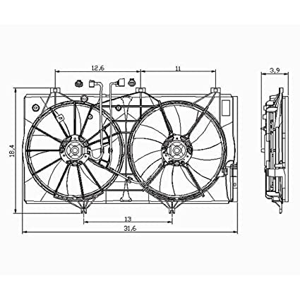 amazon com: cpp dual radiator cooling fan for toyota avalon, camry, venza  to3117101: automotive