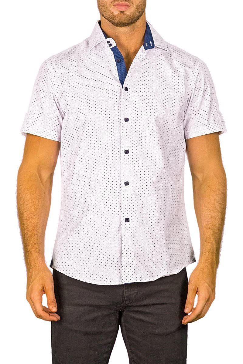 skilful manufacture stylish design world-wide renown Bespoke White Square Button Front Short Sleeve Contrast Trim ...