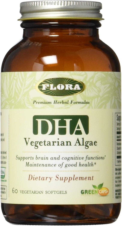 Flora - DHA Vegetarian Algae Capsules -60 count