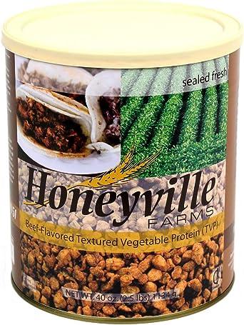 Honeyville Carne de res sazonada con textura proteína vegetal PST 2.5 libros puede