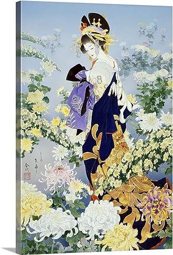 Kiku Canvas Wall Art Print