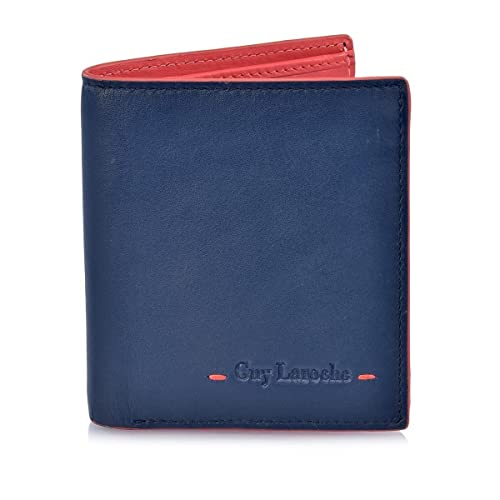 Guy Laroche Cartera de Hombre 3273 (Color: Azul-Coral): Amazon.es: Zapatos y complementos