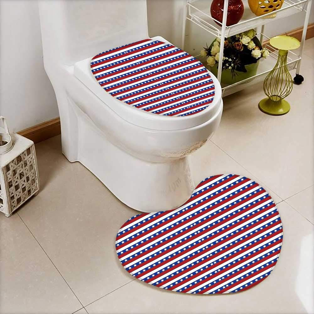 2 Piece Anti-Slip mat Set America Anti-Slip Water Absorption W18 x H24 / W14 x H16 by HuaWu-home