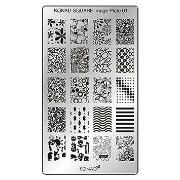 Original KONAD Square 01 Stamping Schablone
