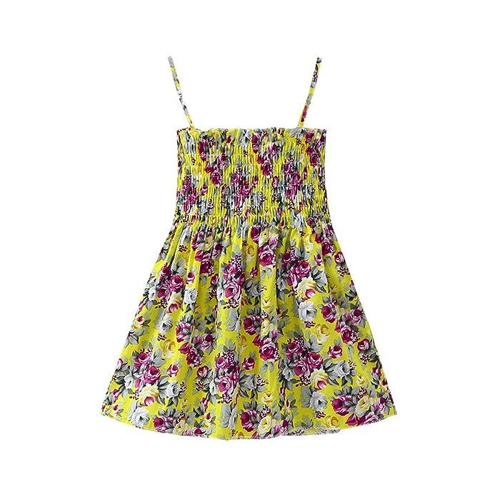 Faldas de Fruta Limón Niñas Chicas Vestido la Honda de Flores Mariposa Vestido de Girasol de