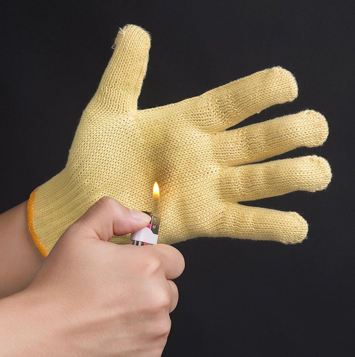 Simple Glove but Fully Protection: made of 100% Kevlar, possible the lightest weight, highest performing gloves (6 Pairs Pack)