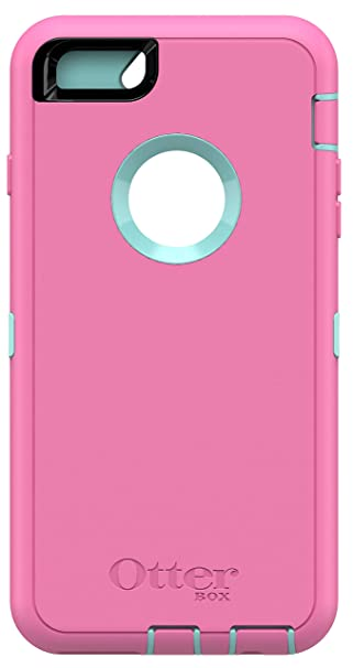 timeless design 1e269 9401d OtterBox Defender Series Case for iPhone 6s Plus & iPhone 6 Plus (Case only  - No Holster) Non-Retail Packaging - Aqua Blue/Hibiscus Pink
