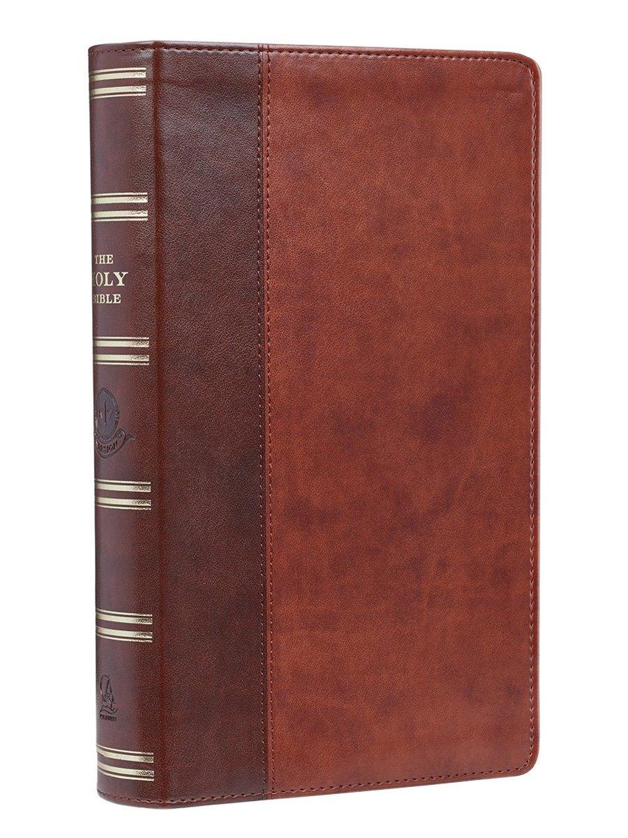 Holy Bible: KJV Giant Print Edition: Two-tone Tan / Brown (King James Bible)