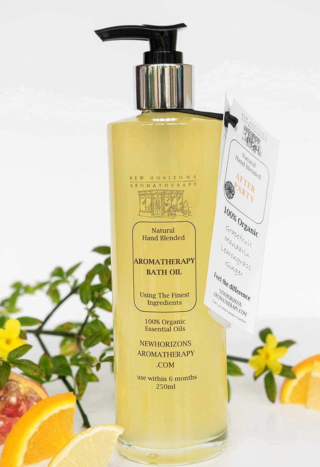 AFTER PARTY Bath Oil. Sunflower, Jojoba and Vitamin E base. 100% Organic Essential Oils. 250ml Glass bottle or Biodegradable refill