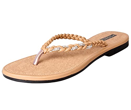 4e62a9b5aae3 Azores Women s Brown Flats  Buy Online at Low Prices in India ...