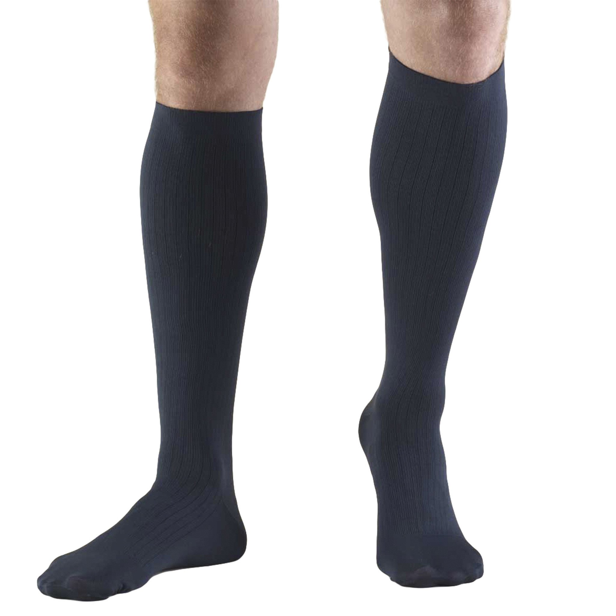 Truform Compression Socks, 8-15 mmHg, Mens Dress Socks, Knee High Over
