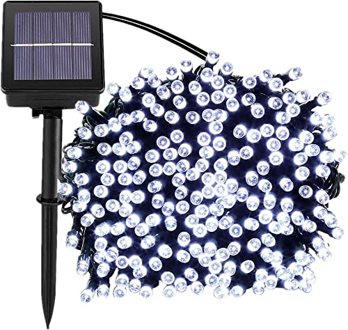 72ft 200 Led Solar Outdoor String Lights Fairy Outdoor Lighting, 8 Mode Steady, Flash , Waterproof, Decoration for Garden, Yard, Patio, Christmas, Tree, Party, Holiday, Home White