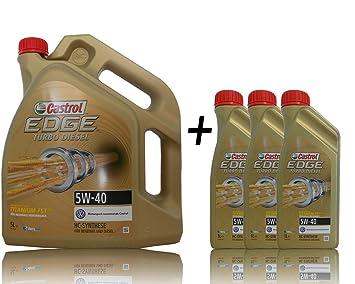 3 x 1 l + 5 l=8 litros Castrol Edge Titanium fsttm Turbo Diesel