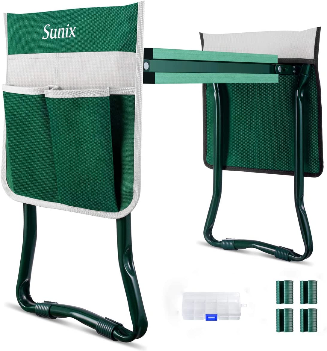 Sunix Folding Garden Kneeler and Seat with 2 Tool Pouches