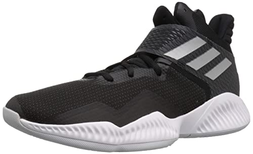 new product dbb59 3565a adidas Mens Explosive Bounce 2018 Basketball Shoe, BlackSilver  MetallicLight Solid Grey